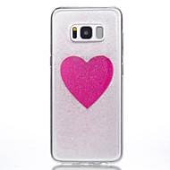 Кейс для Назначение SSamsung Galaxy S8 Plus S8 Полупрозрачный С узором Задняя крышка С сердцем Мягкий Силикон для S8 S8 Plus S7 edge S7