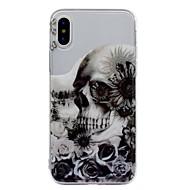 Назначение iPhone X iPhone 8 iPhone 8 Plus Чехлы панели IMD С узором Задняя крышка Кейс для Черепа Цветы Мягкий Термопластик для Apple