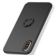 Недорогие Кейсы для iPhone 8 Plus-Кейс для Назначение Apple iPhone X iPhone 8 iPhone 8 Plus iPhone 7 Кольца-держатели Матовое Кейс на заднюю панель Сплошной цвет Твердый ПК