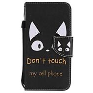 Недорогие Кейсы для iPhone 8-Назначение iPhone X iPhone 8 iPhone 8 Plus Чехлы панели Бумажник для карт Кошелек со стендом Флип С узором Чехол Кейс для Кот Твердый