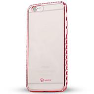 Назначение iPhone 6 iPhone 6 Plus Чехлы панели Стразы Покрытие Прозрачный Задняя крышка Кейс для Прозрачный Мягкий Термопластик для Apple