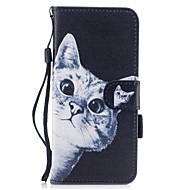 Недорогие Чехлы и кейсы для Galaxy S8 Plus-Кейс для Назначение SSamsung Galaxy S8 Plus / S8 Кошелек / Бумажник для карт / со стендом Чехол Кот Твердый Кожа PU для S8 Plus / S8