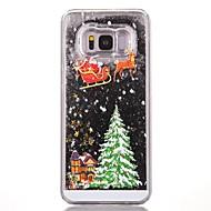 Кейс для Назначение SSamsung Galaxy S8 Plus S8 Движущаяся жидкость С узором Задняя крышка Рождество Твердый PC для S8 S8 Plus