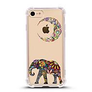 Недорогие Кейсы для iPhone 8 Plus-Кейс для Назначение Apple iPhone X iPhone 8 Ультратонкий Прозрачный С узором Кейс на заднюю панель Слон Мягкий ТПУ для iPhone X iPhone 8