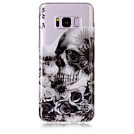 Недорогие Чехлы и кейсы для Galaxy S8-Кейс для Назначение SSamsung Galaxy S8 Plus S8 IMD Прозрачный С узором Кейс на заднюю панель Черепа Мягкий ТПУ для S8 Plus S8 S7 edge S7