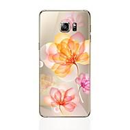 olcso Galaxy S4 tokok-Case Kompatibilitás Samsung Galaxy S8 Plus S8 Átlátszó Minta Fekete tok Virág Puha TPU mert S8 Plus S8 S7 edge S7 S6 edge plus S6 edge S6