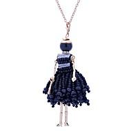 お買い得  -女性用 ロング丈 ステートメントネックレス  -  レース 王女 かわいいスタイル ホワイト, ブラック ネックレス ジュエリー 用途 誕生日, 婚約