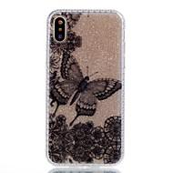 Назначение iPhone X iPhone 8 Чехлы панели С узором Задняя крышка Кейс для Бабочка Сияние и блеск Твердый Акриловое волокно для Apple