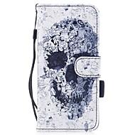 Кейс для Назначение SSamsung Galaxy S8 Plus S8 Бумажник для карт Кошелек со стендом Флип С узором Магнитный Чехол Черепа Твердый