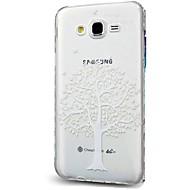 voordelige Galaxy J7 Hoesjes / covers-hoesje Voor Samsung Galaxy J7 (2017) J3 (2017) Transparant Patroon Achterkantje Lace Printing Zacht TPU voor J7 (2017) J7 V J7 Perx J7
