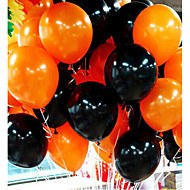 cheap Party Decoration-50Pieces Halloween Balloon Combo 10 Inches 2.2 Grams Of Inferior Smooth Thick Orange And Black Balloons