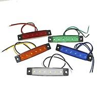 sencart 6led 2835smd blanco / rojo / amarillo / azul / verde de la lámpara del lado del freno marcador luz camión remolque indicadores