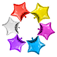 6pcs / lot 5inch csillag ballon többszínű 5 kis aranyos csillagfóliás ballon