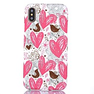 Назначение iPhone X iPhone 8 iPhone 8 Plus Чехлы панели Ультратонкий С узором Задняя крышка Кейс для С сердцем Мягкий Термопластик для