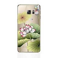 tanie Galaxy S4 Etui / Pokrowce-Kılıf Na Samsung Galaxy S8 Plus S8 Przezroczyste Wzór Czarne etui Kwiaty Miękkie TPU na S8 Plus S8 S7 edge S7 S6 edge plus S6 edge S6 S5