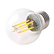 cheap LED Filament Bulbs-1pc 4W 360 lm E26/E27 LED Filament Bulbs G45 4 leds COB Dimmable Decorative LED Light Warm White AC 220-240V