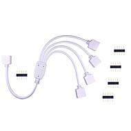 お買い得  -1pchkv®ledランプバンドコネクタrgbカラフルなランプストリップコントローラ1〜4コネクタライン