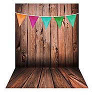 andoer 1.5 * 2m photographie fond toile de fond modèle de drapeau coloré en bois