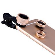 xihama Handyobjektiv Fischaugenobjektiv Weitwinkelobjektiv Makroobjektiv Aluminiumlegierung für androides iphone