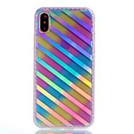 Назначение iPhone X iPhone 8 Чехлы панели С узором Задняя крышка Кейс для Полосы / волосы Твердый Акриловое волокно для Apple iPhone X