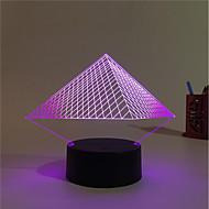 1set Dekoratív Színváltós Dekorációs lámpa LED éjszakai fény USB fények-3W-Akkumulátor USB