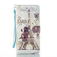 Кейс для Назначение SSamsung Galaxy Note 8 Кошелек Бумажник для карт со стендом Флип С узором Магнитный Чехол Эйфелева башня Твердый
