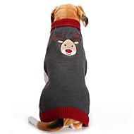 Hond Jassen Truien Hondenkleding Feest Casual/Dagelijks Vakantie Bodysuits Bruiloft Modieus Kerstmis Nieuwjaar Rendier Grijs Kostuum Voor