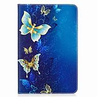 pillangó mintás kártya tartó pénztárca állvánnyal flip mágneses pu bőrtok a samsung galaxis füléhez a 8.0 t350 t355 8.0 hüvelykes tablet