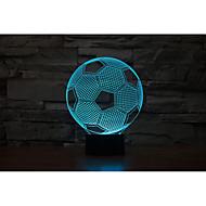 abordables Luces de Regalo-1 juego Luz nocturna 3D USB / Batería Decorativa / Color variable Artístico / LED / Moderno / Contemporáneo