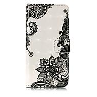 Недорогие Чехлы и кейсы для Galaxy S8 Plus-Кейс для Назначение SSamsung Galaxy S8 Plus S8 Бумажник для карт Кошелек со стендом Флип С узором Чехол Кружева Печать Твердый Кожа PU для
