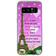 For Case Cover Pattern Back Cover Case Word / Phrase Eiffel Tower Soft TPU for Samsung Galaxy Note 8 Note 5 Edge Note 5 Note 4 Note 3