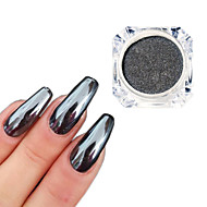 abordables Brillante&Decoraciones-0.5g / bottle black mirror effect decoration 3d nail art glitter