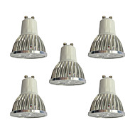 baratos -5pçs 4W GU10 Lâmpadas de Foco de LED 4 leds LED de Alta Potência Regulável Luzes LED Branco 360lm 6000K 110-120V