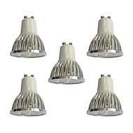 voordelige LED-spotlampen-5 stuks 4W 360 lm GU10 LED-spotlampen 4 leds Krachtige LED Dimbaar LED verlichting Wit 110-120