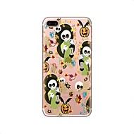 Недорогие Кейсы для iPhone 8 Plus-Кейс для Назначение Apple iPhone X iPhone 8 iPhone 8 Plus Прозрачный С узором Кейс на заднюю панель Halloween Мягкий ТПУ для iPhone X
