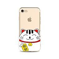 Недорогие Кейсы для iPhone 8 Plus-Кейс для Назначение Apple iPhone X iPhone 8 Прозрачный С узором Кейс на заднюю панель Кот Мультипликация Мягкий ТПУ для iPhone X iPhone 8