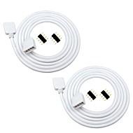 baratos -2pcs 1m rgb levou cabo de extensão conector de 4 pinos para 5050 3528 2835 rgb led strip