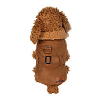 voordelige Dagaanbiedingen-Hond Jassen Hondenkleding Effen Bruin Polyesteri Kostuum Voor huisdieren Heren / Dames Casual / Dagelijks