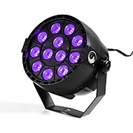 U'King ZQ-B187B 12W 12 LEDs Purple Color DMX Sound Activated Par Stage Lighting for Disco Party Club KTV Wedding