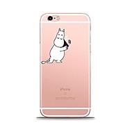 Назначение iPhone X iPhone 8 Чехлы панели Прозрачный С узором Задняя крышка Кейс для Композиция с логотипом Apple Мягкий Термопластик для