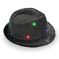 fedora a condus intermitent paiete jazz cap hip hop pălăria ziua de nastere pălării cap de nuntă Halloween