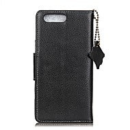 お買い得  携帯電話ケース-ケース 用途 Asus カードホルダー ウォレット フリップ フルボディーケース ソリッド ハード 本革 のために Asus Zenfone 4 MAX ZC554KL
