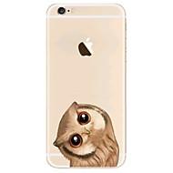 Недорогие Кейсы для iPhone 8-Кейс для Назначение Apple iPhone X iPhone 8 iPhone 8 Plus Ультратонкий Прозрачный С узором Задняя крышка Сова Мягкий TPU для iPhone X