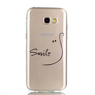 Недорогие Чехлы и кейсы для Galaxy A5(2017)-Кейс для Назначение SSamsung Galaxy A5(2017) A3(2017) Прозрачный С узором Кейс на заднюю панель Слова / выражения Мягкий ТПУ для A3