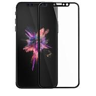 Недорогие Защитные плёнки для экрана iPhone-Защитная плёнка для экрана Apple для iPhone X Закаленное стекло 1 ед. 3D закругленные углы Защита от царапин Уровень защиты 9H