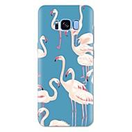 Недорогие Чехлы и кейсы для Galaxy S8 Plus-Кейс для Назначение SSamsung Galaxy S8 Plus S8 С узором Кейс на заднюю панель Фламинго Животное Мягкий ТПУ для S8 Plus S8 S7 edge S7 S6