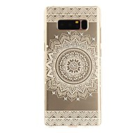 voordelige Galaxy Note-serie hoesjes / covers-hoesje Voor Note 8 Strass Ultradun Transparant Patroon Achterkantje Lace Printing Zacht TPU voor Note 8 Note 5 Edge Note 5 Note 4 Note 3