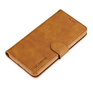 Недорогие Кейсы для iPhone 8-Кейс для Назначение Apple iPhone X iPhone 8 Бумажник для карт Кошелек Флип Чехол Сплошной цвет Твердый Настоящая кожа для iPhone X iPhone