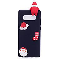 Недорогие Чехлы и кейсы для Galaxy Note 8-Кейс для Назначение SSamsung Galaxy Note 8 Матовое Своими руками Кейс на заднюю панель Рождество 3D в мультяшном стиле Мягкий ТПУ для