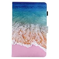 Недорогие Чехлы и кейсы для Galaxy Tab A 9.7-Кейс для Назначение SSamsung Galaxy Вкладка 9,7 Вкладка 8,0 Бумажник для карт со стендом Флип Магнитный С узором Чехол Пейзаж Твердый